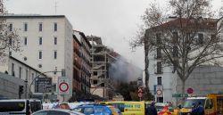 Explosão atinge prédio no centro de Madri